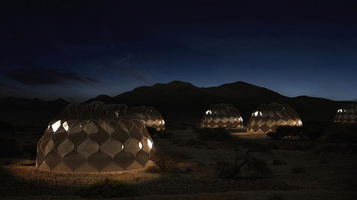 Güneşten Enerji Sağlayan Mülteci Çadırları